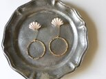 White & Gold Shellfish Beads earrings Vol.2の画像