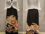 留袖リメイクスカート(古典柄御所車)の画像