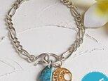 ターコイズ & シルバーチェーン Braceletの画像