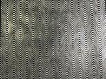 ギルディング和紙 小波柄黒和紙銀箔の画像