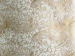 ギルディング和紙 糸菊柄 生成和紙 黃混合箔の画像