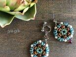 Teardrop beads earrings - Rubyの画像