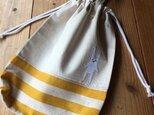 体操服袋黄色※持ち手有り(送料無料)の画像