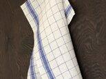 【TENUI】Linen multi cloth. BL×WHの画像