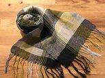 手織りストール BG2の画像