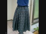 大島紬のタック付きスカート~ 裏付き 再出品登録ご遠慮願います。の画像