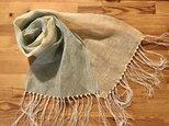 手織りストール リネンの画像