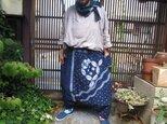 藍藍藍リメイクサルエルパンツ☆さわやかラクチンなおとなのサルエルです♪の画像