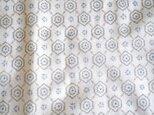 kh0018 菱紋様白絣柄ハギレ巾75×150cm☆古布・古裂 /筒描き/型染め/藍染/の画像