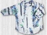 40 着ると可愛いレトロ抜き衿プルオーバーシャツ(藤)の画像