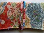 送料無料 花柄の着物で作った和風財布・ポーチ 3719の画像