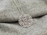 Mesh plate necklace(silver)Lの画像