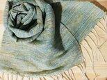 手織りストール シルクの画像