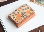 三つ折り ミニ財布(ヴィンテージ マリーゴールド) 牛革  オールレザー ILL-1129の画像