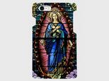 ステンドグラスモチーフ(マリア像)② iphone5/5c/5s/6/6s/7/8/X 等 専用 ハードケースの画像