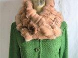 ¶ new antique fur ¶ ピンク染フォックスnejiriスヌード「famia」の画像