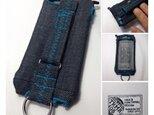 布のiPhoneジャケット5,5S,5C用デニムにカワセミブルーの画像