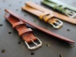 [オーダーメイド]イタリア産プルアップレザー 腕時計用ベルトの画像