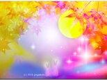 「十五夜・お月見」 ほっこり癒しのイラストポストカード2枚組No.614の画像