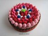 《直径16㎝》いちごクリームのチョコレートケーキの画像
