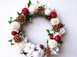 ホワイトクリスマスリースの画像