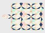 カラフルタイルパターン(星) アンドロイドLサイズ専用 手帳型スマホケース の画像