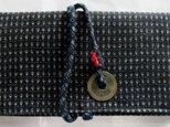 送料無料 男絣で作った和風財布・ポーチ3822の画像
