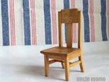 ドール用椅子(色:オーク) 1/12ミニチュア家具の画像