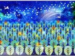 「星空のカーニバルⅡ」 ほっこり癒しのイラストポストカード2枚組No.638の画像
