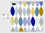 北欧デザイン ボタニカルリーフ ②  iphone 6plus/7plus/8plus 専用 手帳型ケース 抽象画の画像