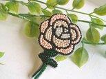 <再販>オートクチュール刺繍ブローチ ウインターローズのアンナの画像