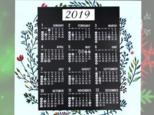 2019年 壁掛けカレンダー 北欧風の画像