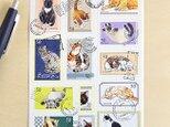 切手シール 猫の画像