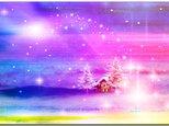 「ホワイトクリスマス」 ほっこり癒しのイラストポストカード2枚組No.655の画像
