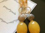 vintage beads earringsノンホールピアスの画像