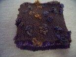 4種の糸の手編みスヌードの画像