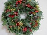 Y様オーダー クリスマスリース、お花畑ツリー」の画像