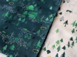 シルク混スカーフ / グリーンの画像
