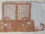柿渋染 ブックカバー 「冬の陽だまり」の画像