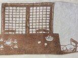 柿渋染 ブックカバー 「午睡からさめたら」の画像