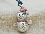『雪だるま』の鈴 銀製(シルバー925+レジン)の画像