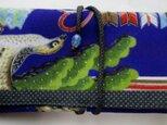 送料無料 男の子のお宮参り着で作った和風財布 3958の画像