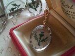 ヴィンテージ アザミのインタリオネックレス お色をお選び下さい(Gold、Silver、真鍮古美カラー)の画像