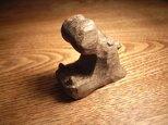 小さな彫刻 かばのあくびの画像