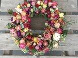 新春 可愛い小花リースの画像