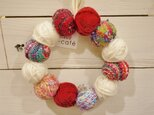 ◆SALE◆手織り 冬のリースの画像