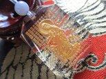 do様ご予約 1点限り 再入荷無し 観音彫り水晶 ラベンダーカラーミャンマー翡翠 お紐仕立てストラップの画像