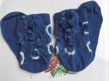 藍染めのガーリーソックスの画像