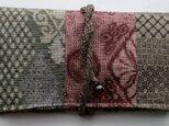 送料無料 大島紬で作った和風財布・ポーチ 3978の画像