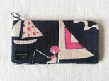 型染め 長財布「ヨットの旅」の画像